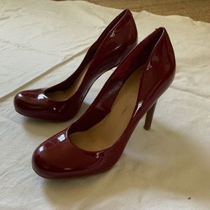 Red patent leather Jessica Simpson heels